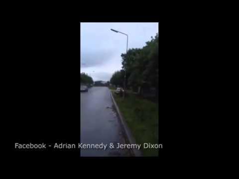 Irish Driver Knocks Down Lamp Posts - Dublin