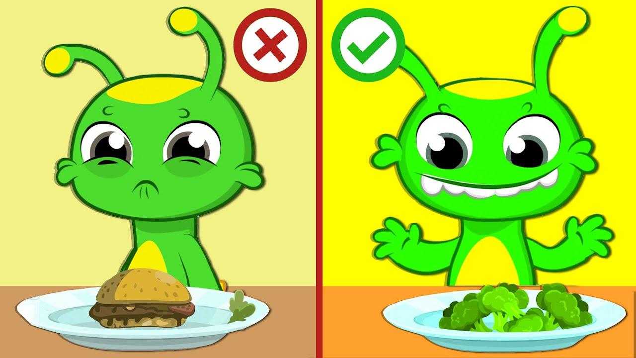 Download Nuovo episodio educativo! | Groovy il marziano insegna ai bambini a mangiare verdure sane