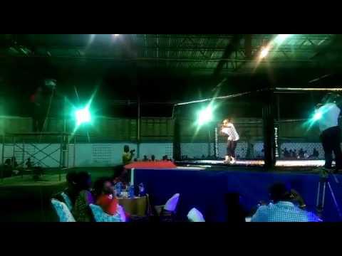 Trey La- Performing Real Love at Trade Fair: Warriors West African Kick Boxing Championship