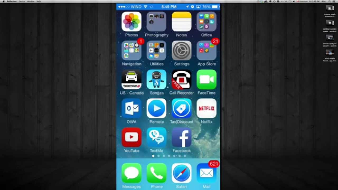 how to import pdf into iphone 5s