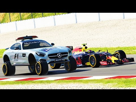 DRIVING THE SAFETY CAR & RACING THEM AT MONACO! - F1 Game