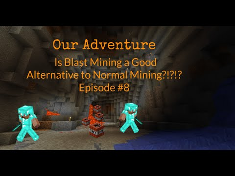 Minecraft PS4 Our Adventure Is Blast Mining a Good Alternative to Normal Mining!!! Episode #8
