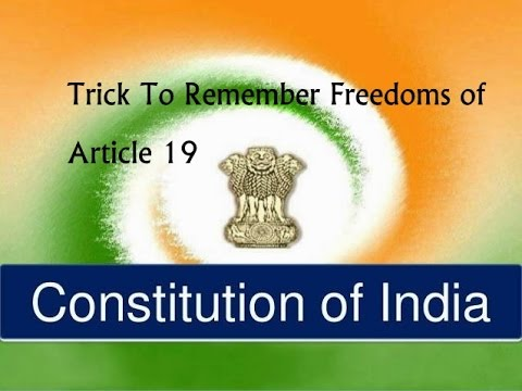 Trick To Remember  Article 19 of the Indian Constitution