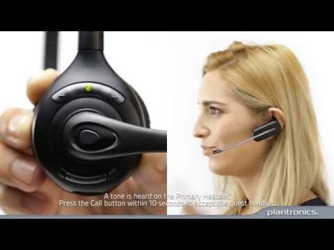 How to Subscribe a Guest Headset to a Savi 700 series base - YouTube