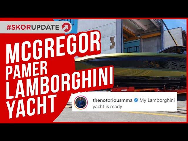 Conor McGregor Pamerkan Lamborghini Yacht Tecnomar 63