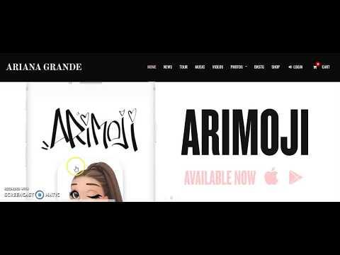Comparing Real Artist's Websites- Ariana Grande