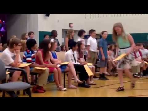 Andrew's moving up ceremony from Schuylkill Elementary School.