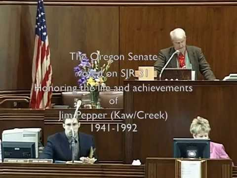 Oregon Senate honors Jim Pepper
