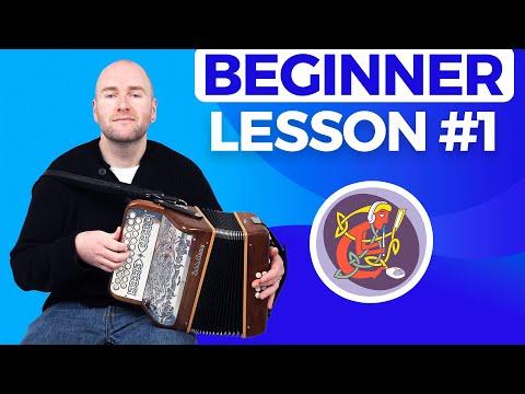 Irish Accordion Lesson 1 - [The Basics] Start Here