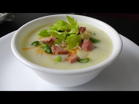 Potato Soup With Ham - Menu Leftover Ham #1