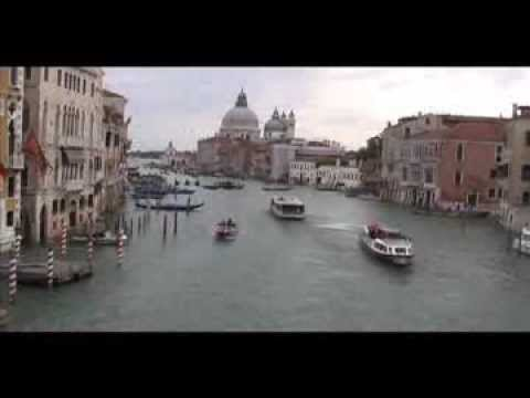 Boats Dodge Each Other on Venice, Italy's Grand Canal-  (4x Speed)