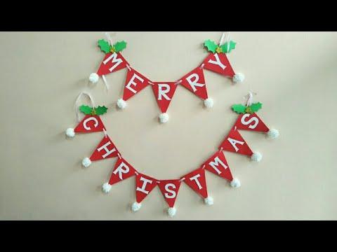 DIY Merry Christmas Garland/How to make Christmas Garland/ Christmas Garland Decoration