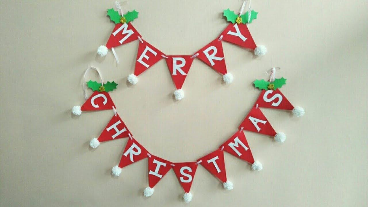 diy merry christmas garlandhow to make christmas garland christmas garland decoration