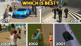 GTA : WHICH IS BEST NPCs IN EVERY GTA? (GTA 5, 4, SAN, VC, 3)