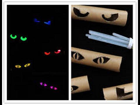 Halloween Spooky Eyes Using Toilet Paper Rolls