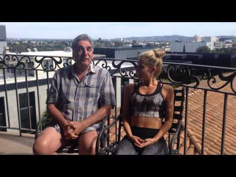 Jim Carter and Joanne Froggatt ALS Ice Bucket Challenge