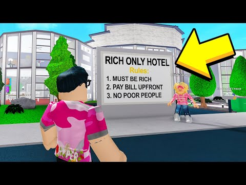 I Went To The RICH ONLY Hotel.. The INSIDE Will SHOCK You! (Roblox)