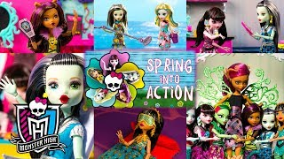 Monster High Spring Into Action: Stop Motion Series Compilation  Monster High