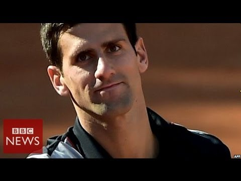 Djokovic 'emotional' at Serbia floods - BBC News