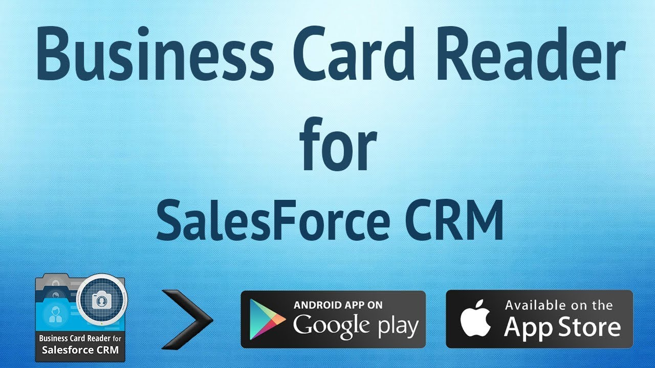 Business Card Reader for Salesforce CRM - YouTube