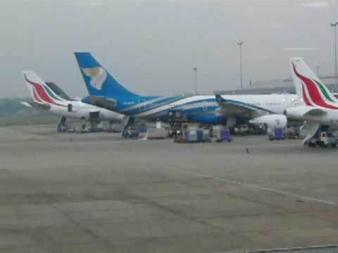 Oman Air Airbus 330-200 at Colombo Airport ( Sri Lanka )