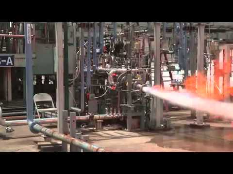 Methane Thruster Blasts Out a Blue Flame | Space Video