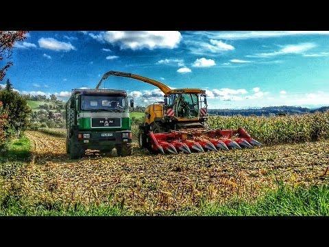 Sachen gibt's: Beim Mais hckseln