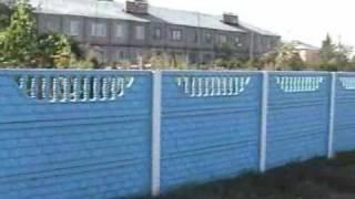 видео Железобетонный декоративный забор