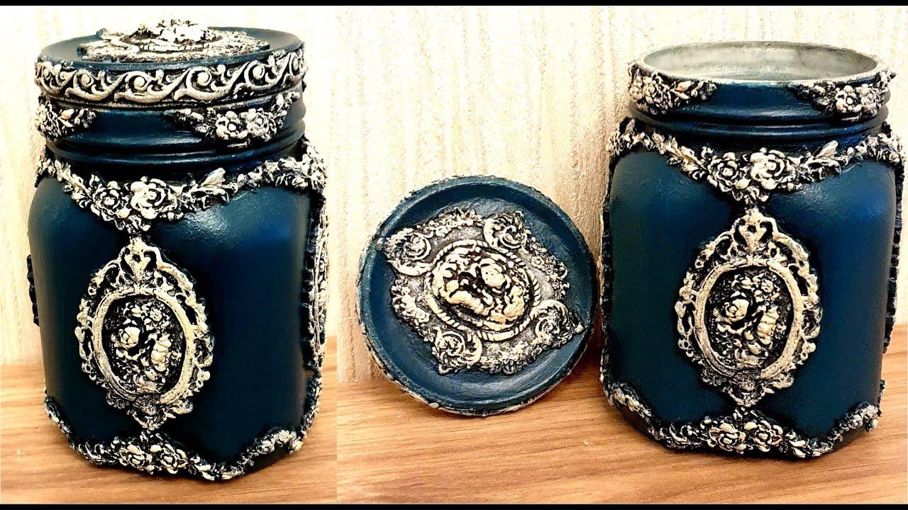 DIY/Vintage glass jars decoration/Home decor