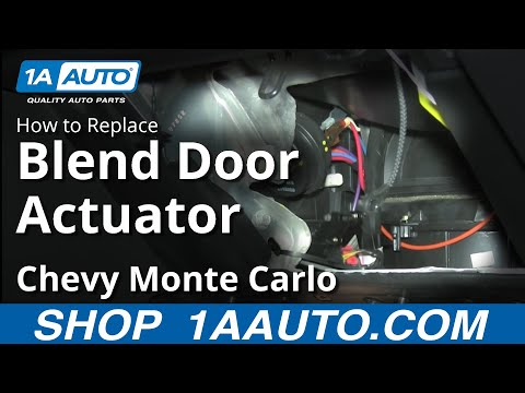 How To Replace Blend Door Actuator 00 03 Chevy Monte Carlo Youtube