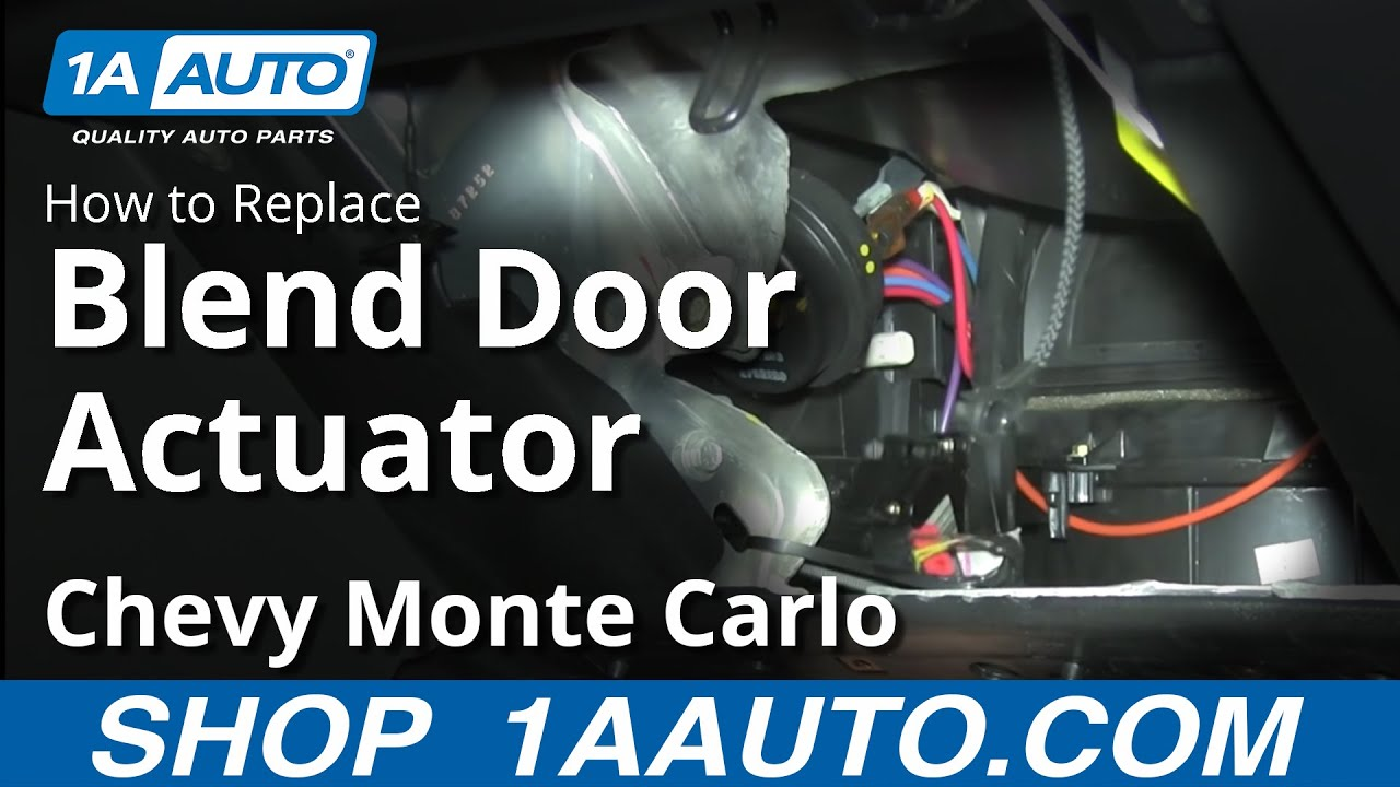 How To Replace Blend Door Actuator 00 03 Chevy Monte Carlo