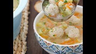 Готовь на обед суп с куриными фрикадельками!