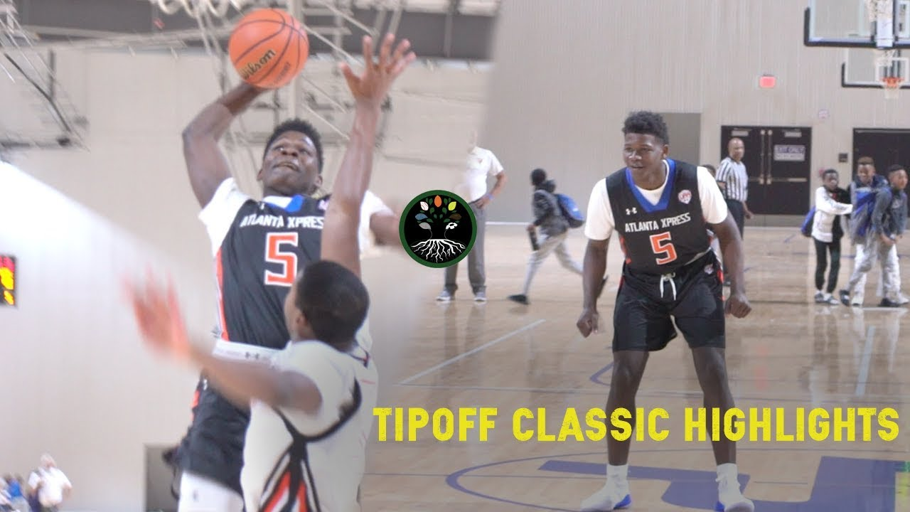 Anthony Edwards Destroys Rim & Defender | ATL Xpress Highlights From  LakePoint Tip Off Classic