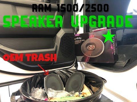 4th GEN RAM 1500/2500 REAR Door Speaker *Install and Review*