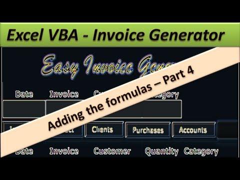 Excel VBA Invoice Generator - Easy Invoice Generator