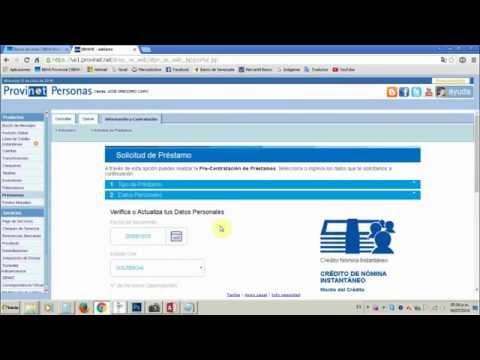 Solicitar Crédito Nomina en el Banco Provincial