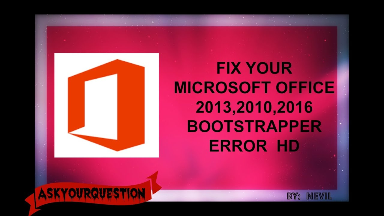 microsoft project standard 2013 encountered an error during setup