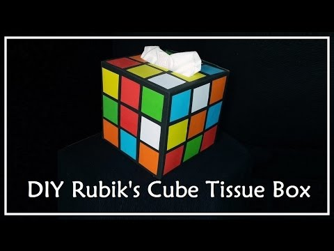 diy rubik 39 s cube tissue box big bang theory youtube. Black Bedroom Furniture Sets. Home Design Ideas