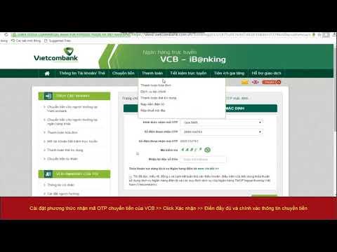 Hướng Dẫn Chuyển Tiền Qua InternetBanking Của Vietcombank - Rongho99.com