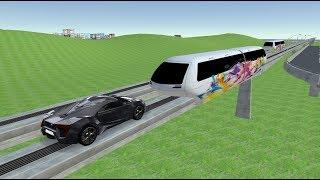 Maglev train vs car crash test