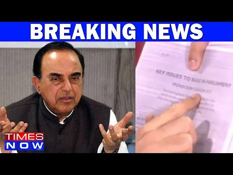 Subramanian Swamy On Congress' 40 Pages Dossier For Parliament's Monsoon Session