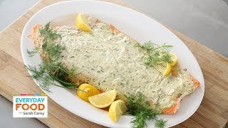 Roasted Salmon With Herbed Greek Yogurt - Everyday Food With Sarah Carey