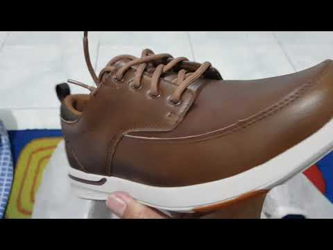 Unboxing SKECHERS ELENT LEVEN 65727 BLK MENS OXFORD BOAT CASUAL WALKING SHOES (100% ASLI & RESMI)