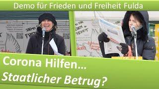 Demo Frieden und Freiheit Fulda/ 16.01.21/ Corona Hilfen- Staatlicher Betrug?