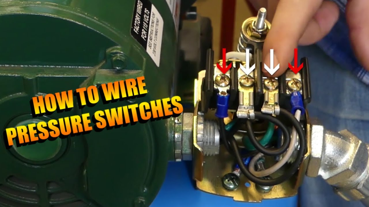 220v air compressor pressure switch wiring