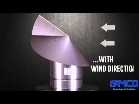 Wind Directional Chimney Cap - Stainless Steel - HVAC products by FAMCO manufacturing