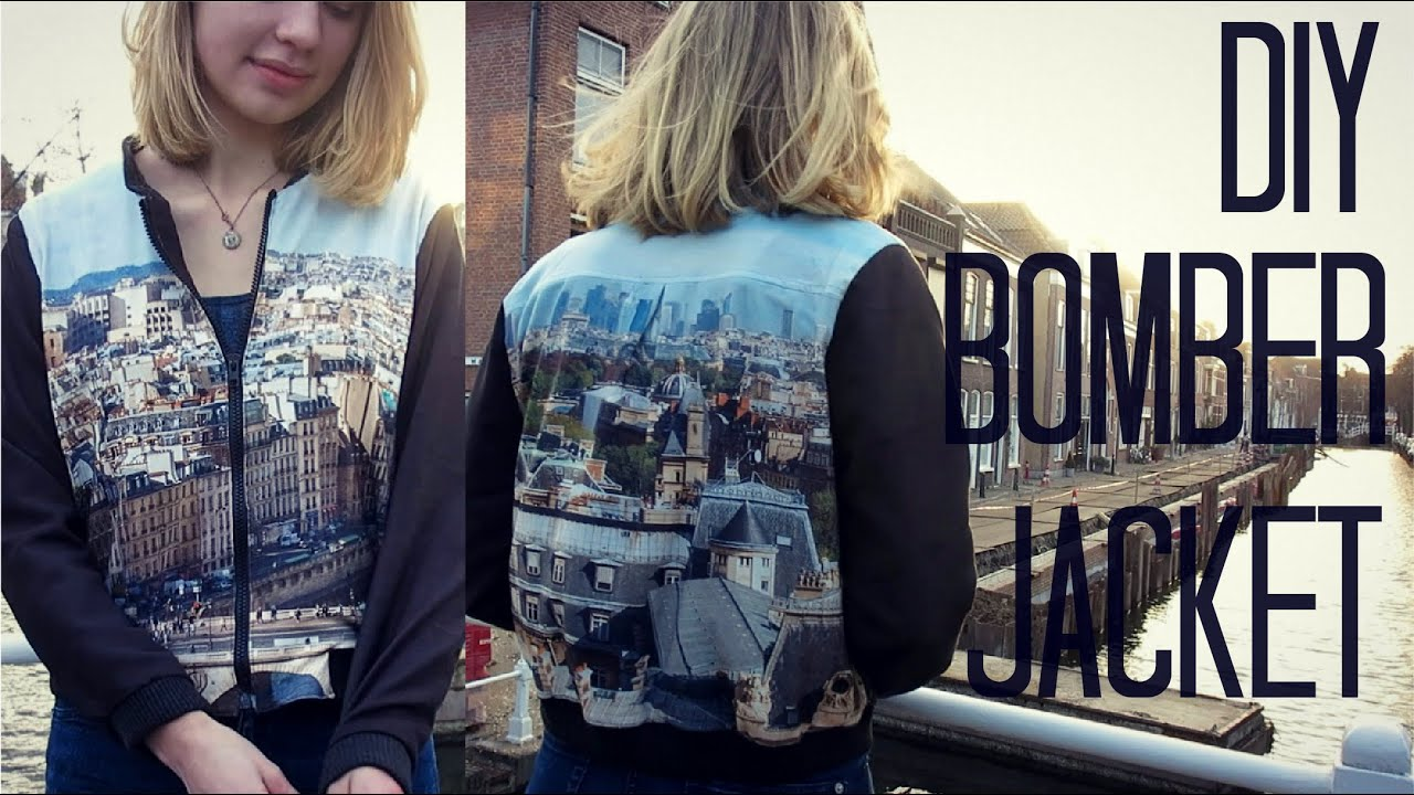 DIY Bomber Jacket - YouTube