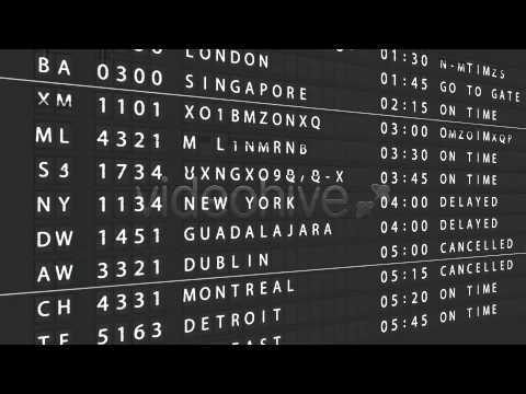 After Effects Template Airport Departure Board Youtube