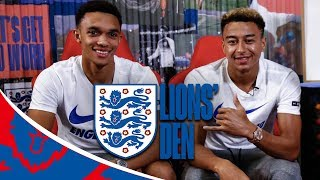 Jesse Lingard and Trent Answer Fan Questions! | Lions' Den | England vs Spain