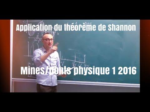 échantillonnage/critère De Shannon. Corrigé Mines-Ponts 2016 Physique 1 MP-PSI-PC (2/4)